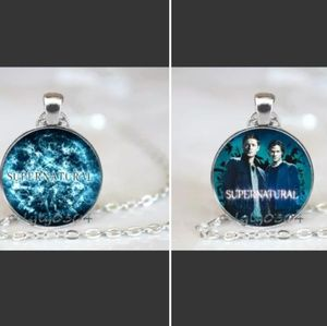 Jewelry - Lof of two glass carbon Supernatural necklaces
